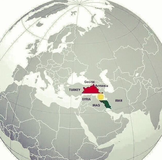 Kurdistan on the world globe world globe sciox Image collections